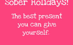 Sobriety around the holidays
