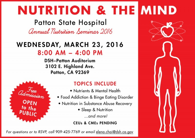 Nutrition & the Mind Seminar 2016