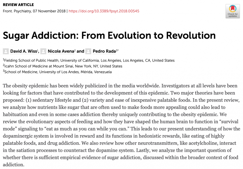 Is There Science to Sugar Addiction?