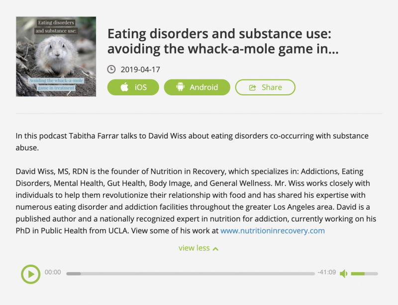Eating Disorders and Substance Use