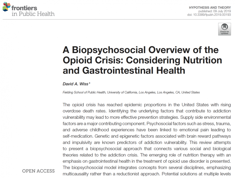 Open Access article by David Wiss